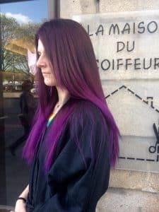Teinture femme la maison du coiffeur Nantes