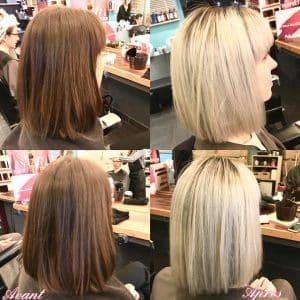 Photo avant et après maison du coiffeur Nantes